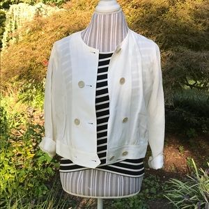 CAbi white double breasted jacket